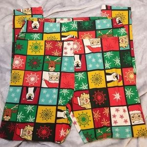 RARE Lularoe UGLY Christmas LEGGINGS Deanne TC2